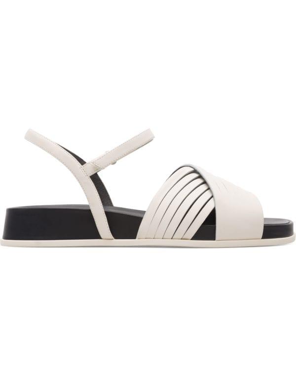 Camper Atonik K200788-006 Sandals for Women Γυναικεια κρεμ λευκα ασπρα πεδιλα